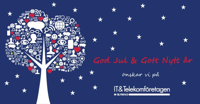 God Jul & Gott nytt år önskar vi på IT&Telekomföretagen