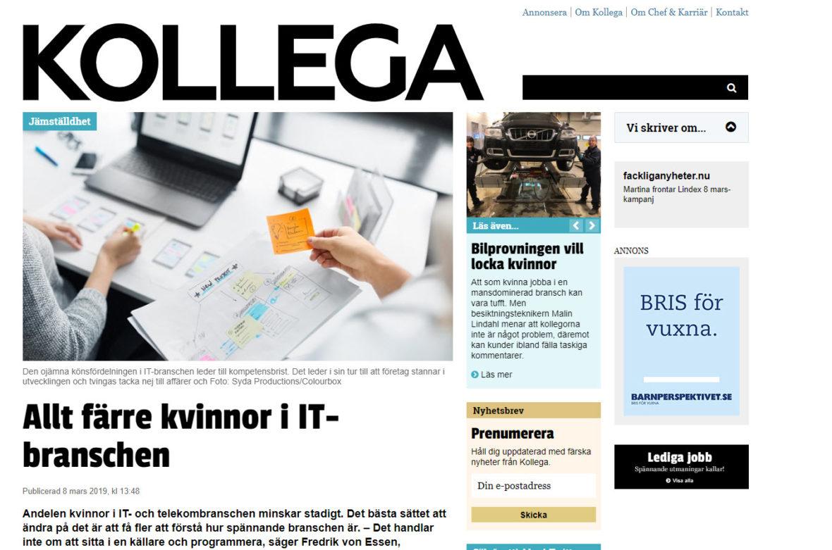 Tidningen Kollega 8 mars 2019