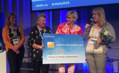 Bild på prisutdelning vitalis 2019