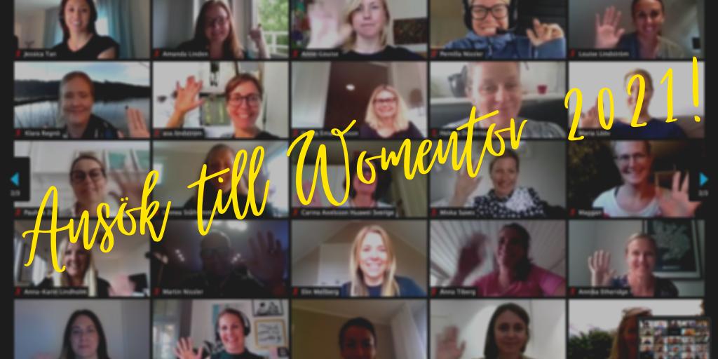 Ansök till Womentor 2021